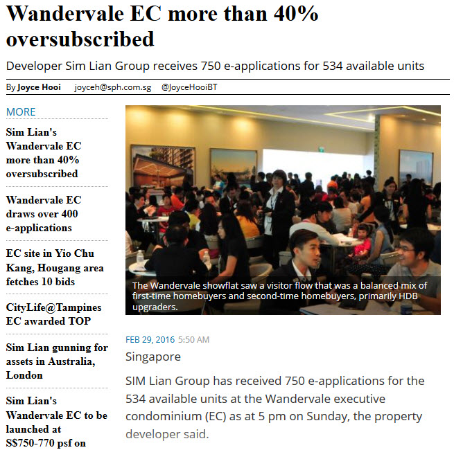 Wandervale EC Subscription
